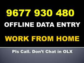 Simple Earning Part Time OFFLINE DATA ENTRY Project Work. Call Me Now!
