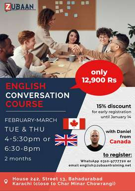 English Speaking Course with foreign teacher