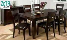 Meja makan 6 kursi jati kering perhutani asli Jepara mewah modern