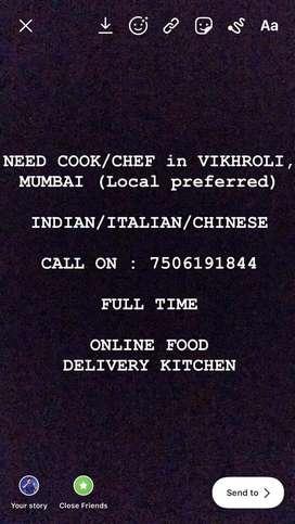 Indian, Italian, Chinese