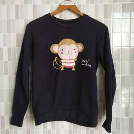 Crewneck Monkey SIze M Second K tiga strip delapan