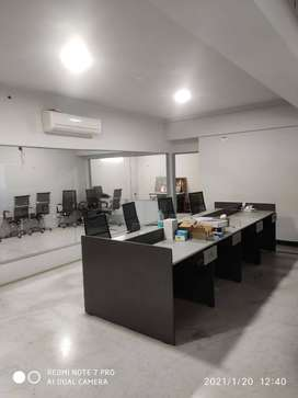 Peelamedu 1000 sq ft furnished office with 15 to 20 work stations rent