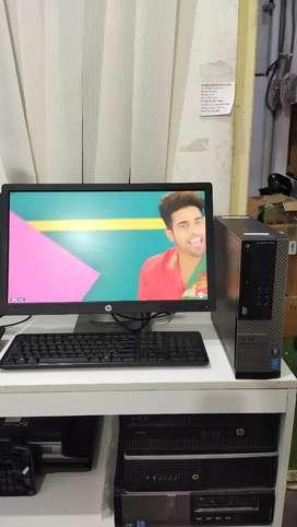 Desktop Dell optiplex 3020 core i3 4th Gen (4gb Ram 320gb HDD) hp 22