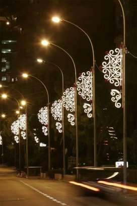 Tiang lampu modern antiq.