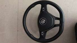 Vw polo gt flatbottom steering wheel with airbag