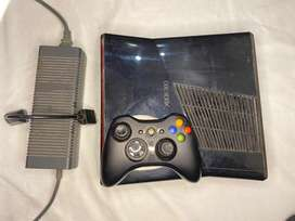 XBOX 360 Slim Black JTAG with power supply and Controller 10/10