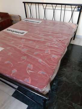 Iron Double bed alongwith mattress