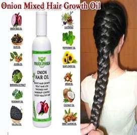Onion Hair Oil for Hair Growth + Hair Fall Treatment + White Hair