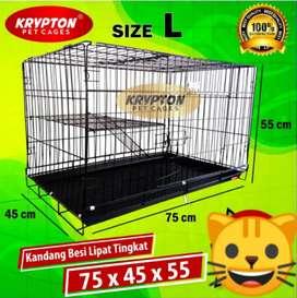 Kandang Kucing, Anjing Dan Kelinci Merk Krypton Size L Tingkat 1
