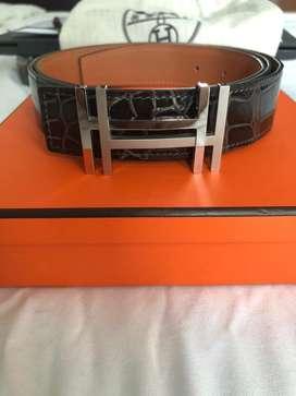 Mint Authentic Hermès Porosus Crocodile Belt 32MM Size 105