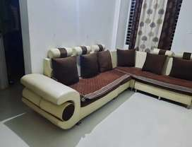 Six seater sofa with 4 stool