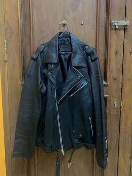 Jaket Kulit Biker Original Leather 100%