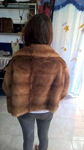 sarung jacket bulu cerpelai size 38/42 retro 1960