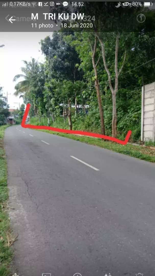 Tanah 590 m super strategis disewakan di Salatiga SHM