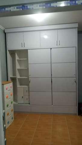 Jual lemari baju full plafon, kitchen set DLL