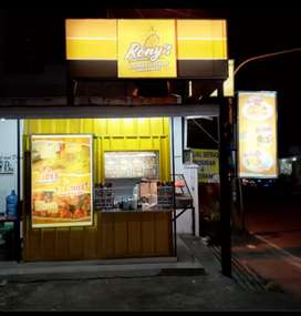 Booth stand chicken booth semi container booth custom booth angkringan