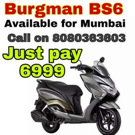 Brand New Burgman BS6 on  Lowest Down-payment