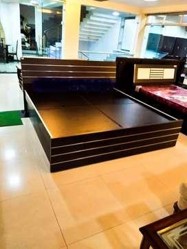0% emi from Bajaj finance king size bed with box storage