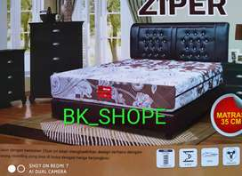 Spring Bed - Matras SweetLand type Ziper - sarung kain bisa dibuka