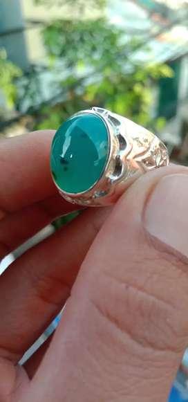 Bacan doko bluish ring perak