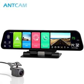 Android dash cam with rearview camera