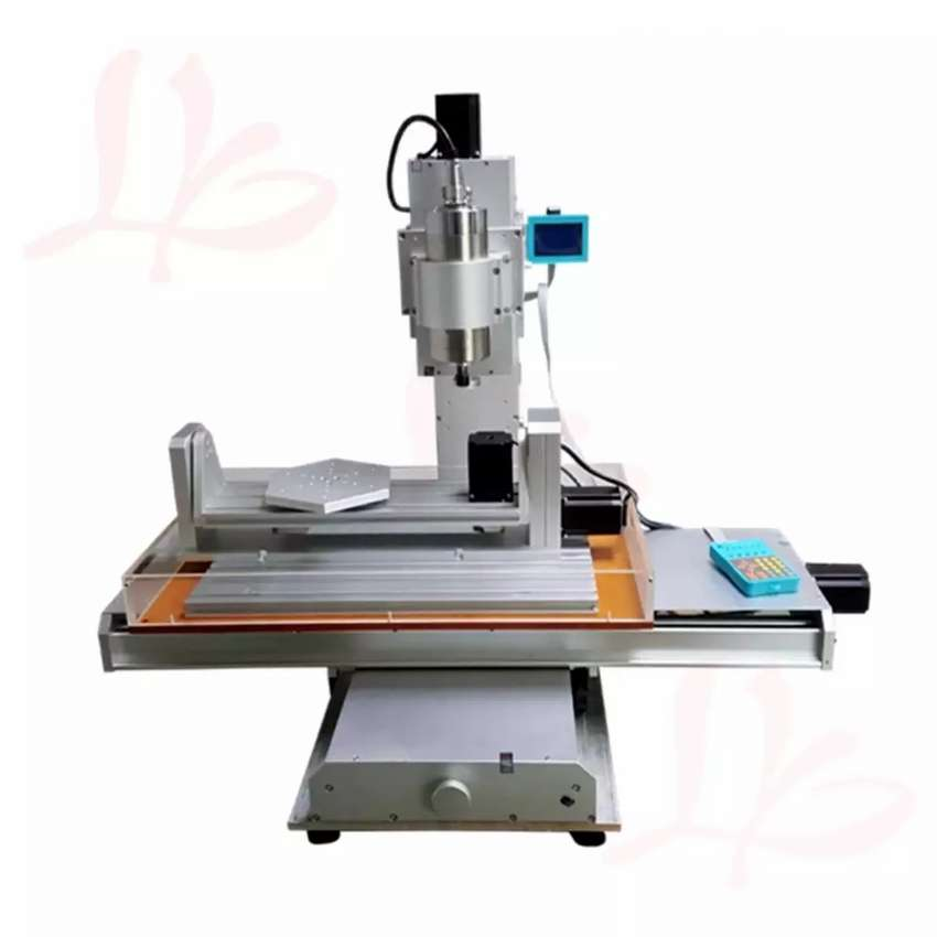 Cnc router 5 axis with 4 axis separate attachment 6040 2.2kw spindle 0