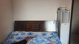 Queen size storage bed is available for sell price is negotiable.