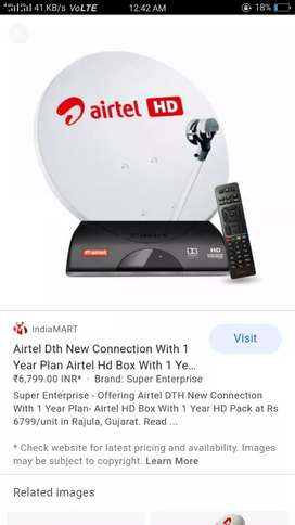 Airtel HD connection only Rs 1899