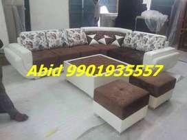 top brand l shape corner sofa set 3 year warranty aj 19