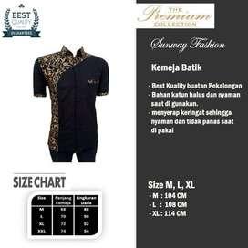 AM0070 Harga Promo COD Baju Kemeja Batik cowok Pria Kualitas terjamin