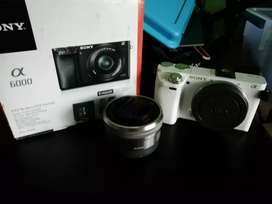 Kamera mirrorless sony a6000 + kit fullset