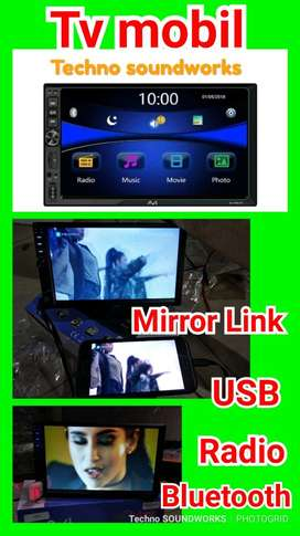 head unit Tape doubledin Mirrorlink Mp4 full HD USB sd card tv mobil