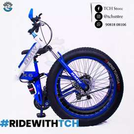 TCH BM X6 FAT TYRE FOLDABLE  BICYCLE WITH 21SHIMANO GEARS COMBINATION