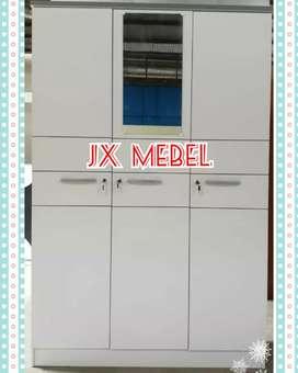 JX MEBEL Lemari Full White 3 Pintu Pku