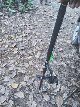 Fishing rod reel  7 feet full set available price little negotiable
