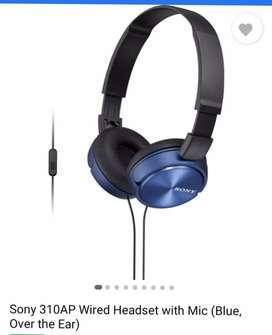 Sony headphone with mic