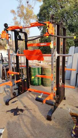 Smith machine functional trainer combo  home gym set up