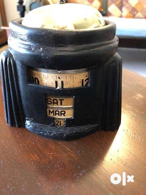 Antique `KAL KLOK' -  4 in 1 rotary calendar Clockk 0