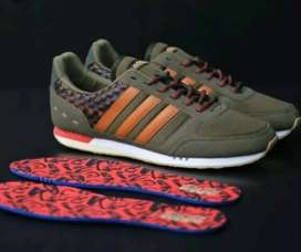 Adidas Neo City Racer Woven Olive Size 44 Neww