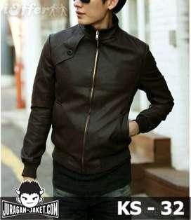 Jaket Kulit Oneside Synthetic Korean Style