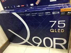 "Samsung 75"" ismart QLed Tv { 8K with HDR + Dolby } 3gb ram / 32gb 9.0"