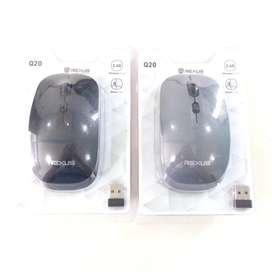 N E W  REXUS Mouse Wireless USB Silent Click untuk Laptop/PC desktop