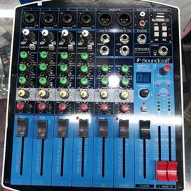 mixer mixing 8 channel soundcraft efx8/4 potensio geser USB REVERB