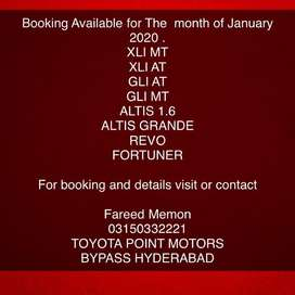 New jan booking
