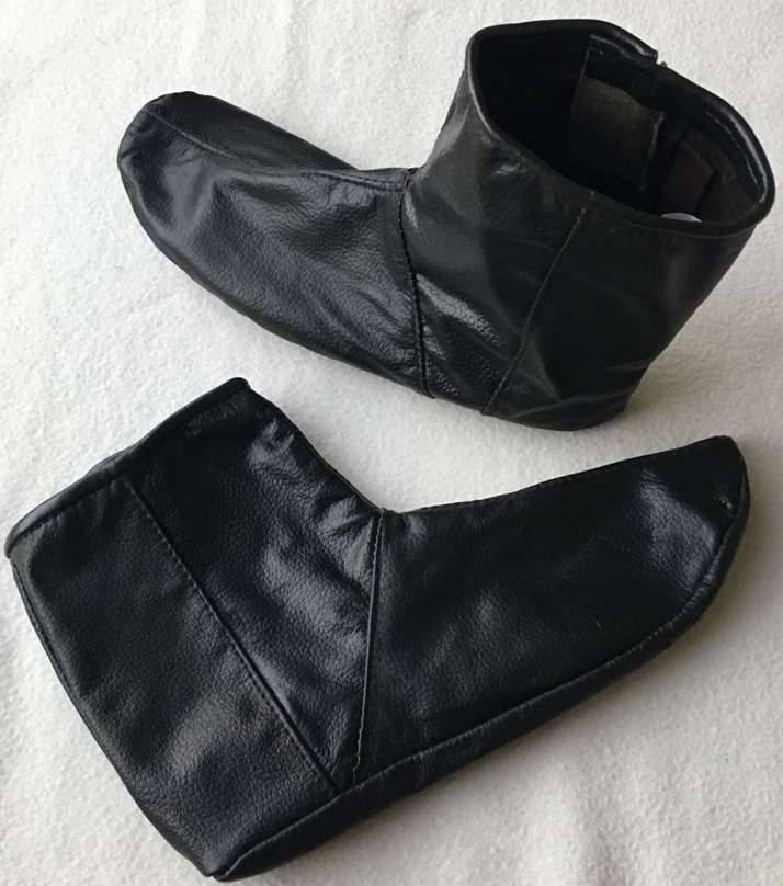 Mozay - 100% Genuine Leather Socks Warm Fabric inside for Cold Weather 0