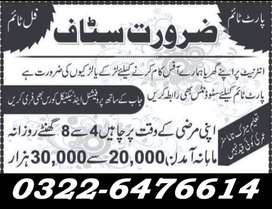 Required Staff For Our Lahore Office Based Online Work