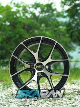 jual hsr wheel ring 15x7 h4(100) black polish utk brio,agya,mirage