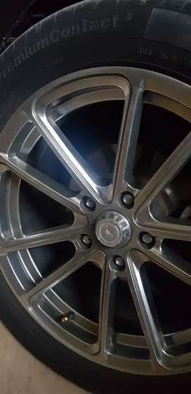 alloy rims with tyre