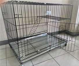 Kandang kucing anjing size jumbo 90cm baru