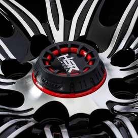 pelek murah HSR Candy JD8162 Ring 17x75 H8x100-1143 ET40 Black Machine